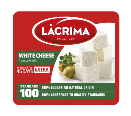 White brine cheese from cow milk EXTRA